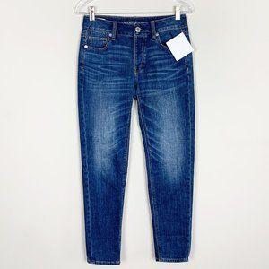 American Eagle | tomgirl hi rise jeans medium wash